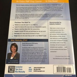 Other - PMP Exam Prep book with unopened CD included